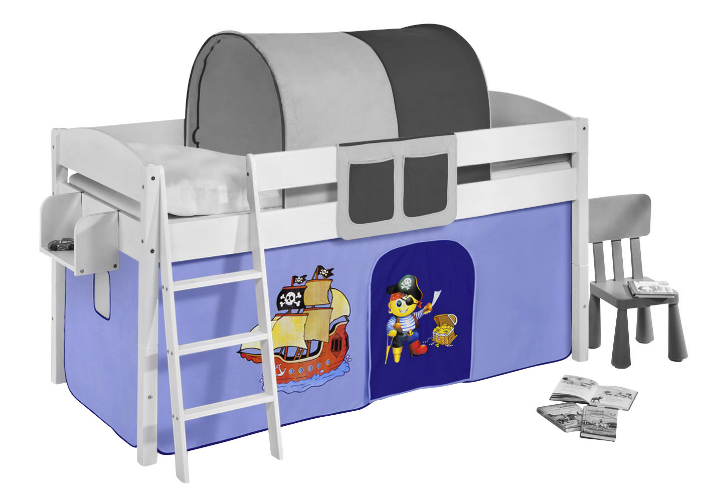 vorhang set f r kinder hochbetten spielbetten 2 teilig. Black Bedroom Furniture Sets. Home Design Ideas