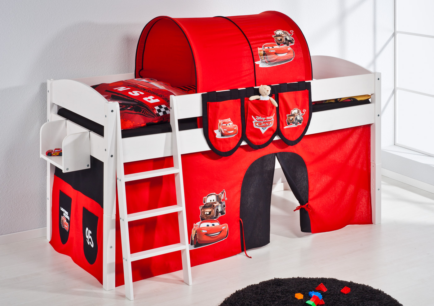 spielbett hochbett kinderbett kinder bett umbaubar zum. Black Bedroom Furniture Sets. Home Design Ideas