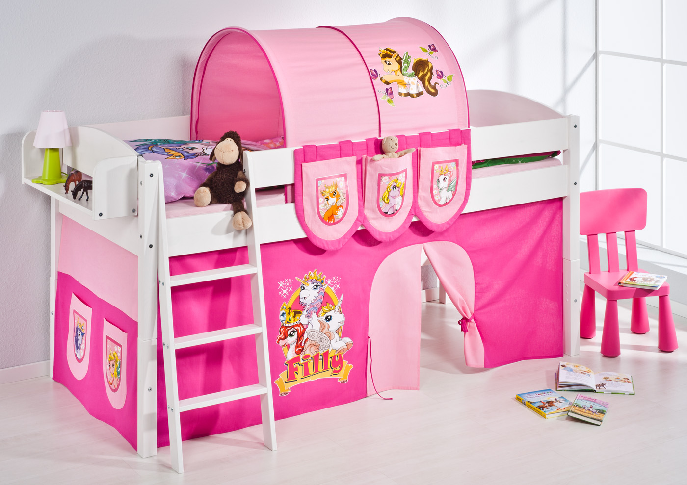 spielbett hochbett kinderbett kinder bett umbaubar zum einzelbett 4105 ebay. Black Bedroom Furniture Sets. Home Design Ideas