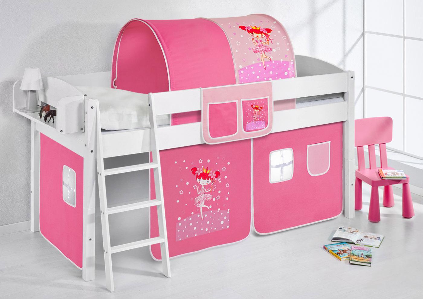 Einzelbett kinder  Spielbett Hochbett Kinderbett Kinder Bett umbaubar zum Einzelbett ...