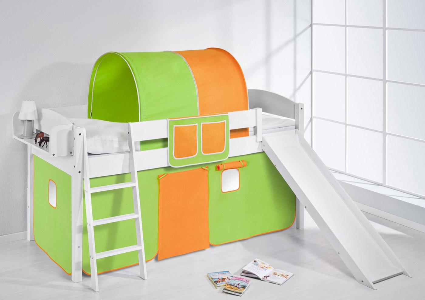 Hochbett Etagenbett Umbaubar : Thuka hochbett mit rutsche und andere kindersachen sehr weiss