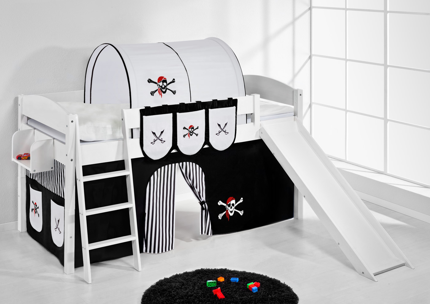 Ikea Expedit Oak Discontinued ~   Hochbett Kinderbett Kinder Bett mit Rutsche umbaubar Einzelbett 4105
