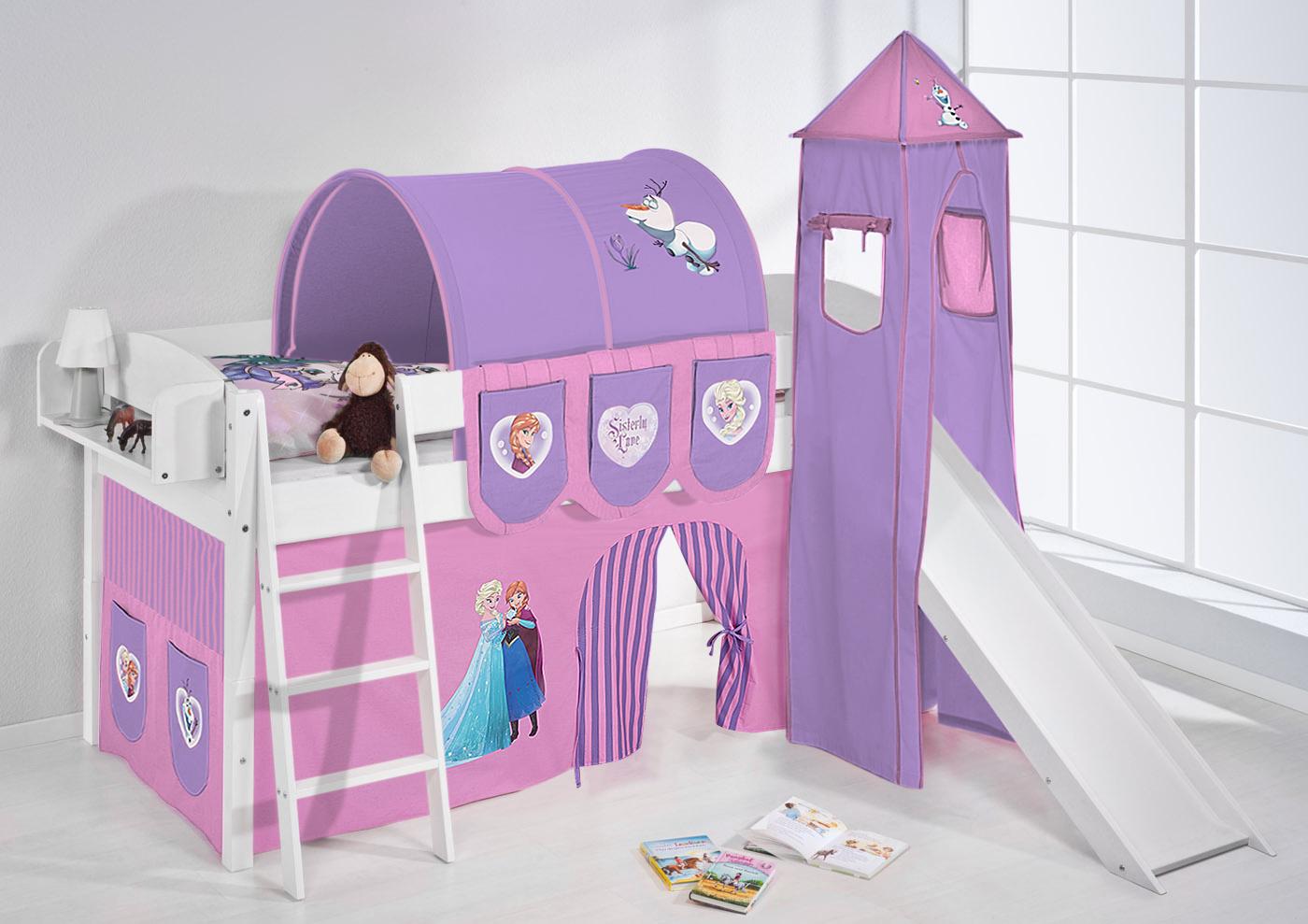 Juego de cama alta cama cuna ni os cama con torre y tobog n 4105 ebay - Juego de cama para cuna ...