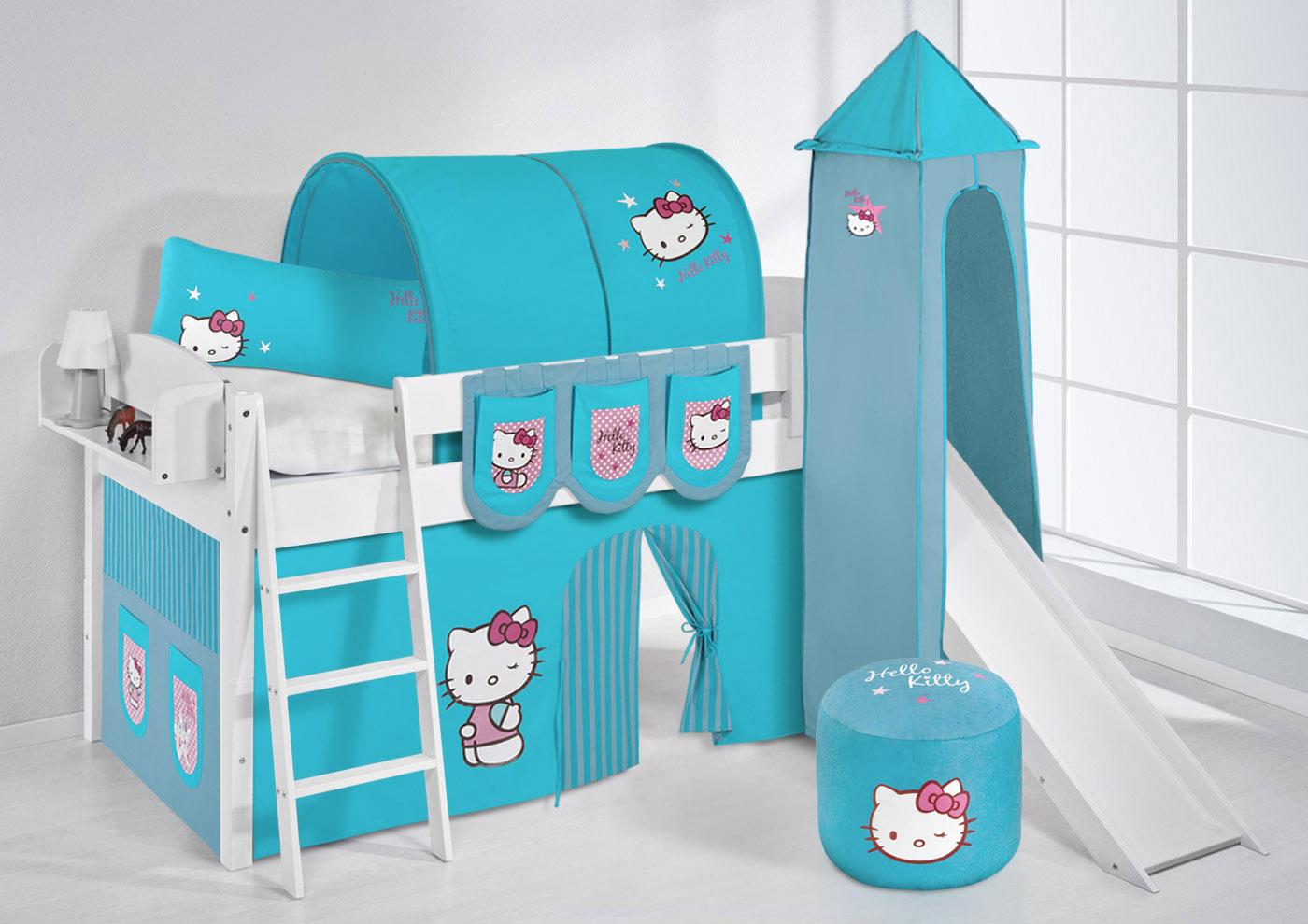 spielbett hochbett kinderbett kinder bett mit turm und. Black Bedroom Furniture Sets. Home Design Ideas