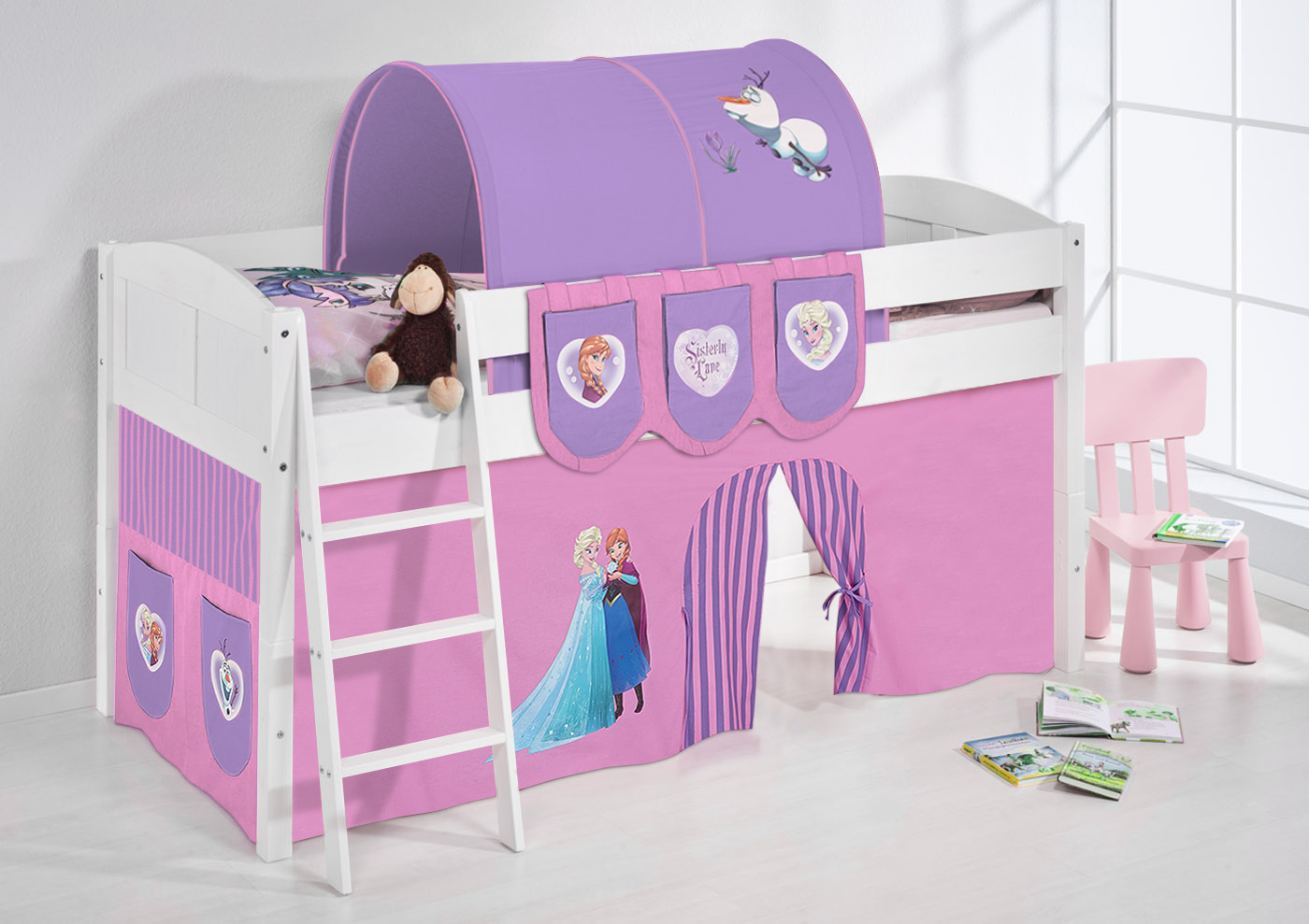 jouer lit aire de jeux mezzanine d 39 enfant enfants convertible simple 4106 ebay. Black Bedroom Furniture Sets. Home Design Ideas