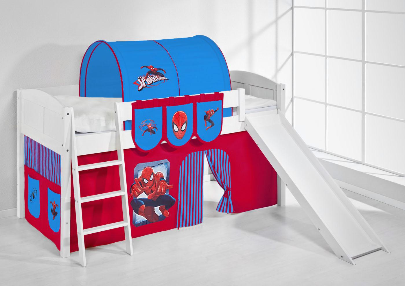 spielbett hochbett kinderbett kinder bett mit rutsche umbaubar einzelbett 4106 ebay. Black Bedroom Furniture Sets. Home Design Ideas