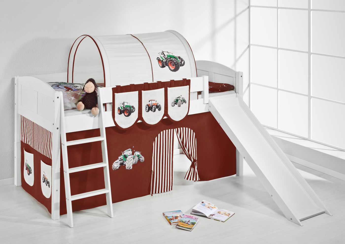 spielbett hochbett kinderbett kinder bett mit rutsche. Black Bedroom Furniture Sets. Home Design Ideas