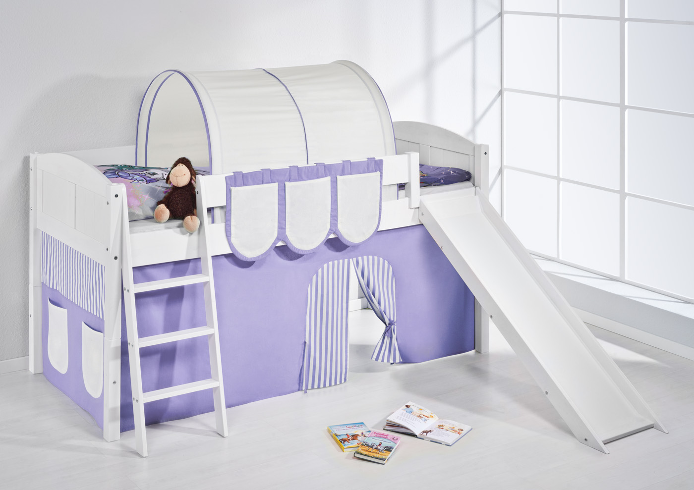 Etagenbett Spielbett : Hochbett spielbett etagenbett massiv mit rutsche neu lilokids