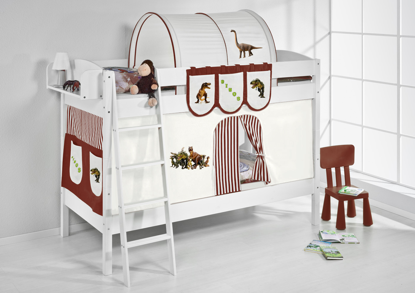 etagenbett hochbett kinder bett aus massiver kiefer ida. Black Bedroom Furniture Sets. Home Design Ideas