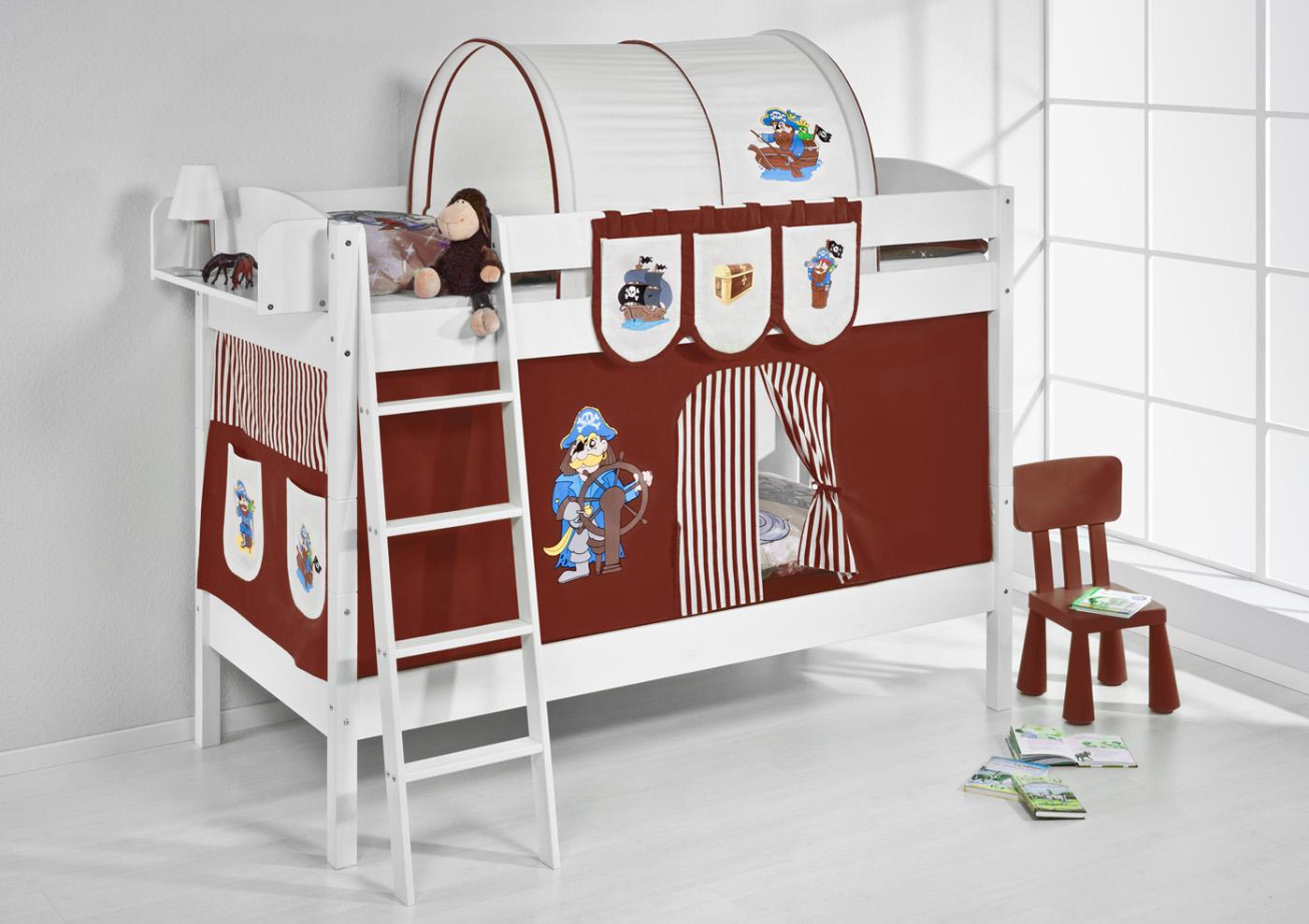 Etagenbett Weiß Für Kinder : Etagenbett hochbett kinder bett aus massiver kiefer ida weiß