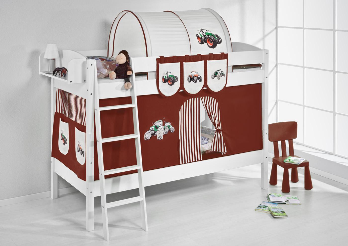 Etagenbett Hochbett Kinder Bett Aus Massiver Kiefer IDA