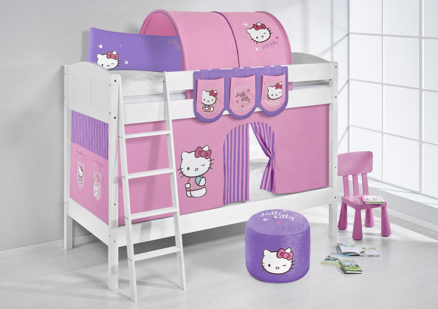 Vorhang Etagenbett Kinder : Etagenbett hochbett kinder bett aus massiver kiefer ida 4106 weiß