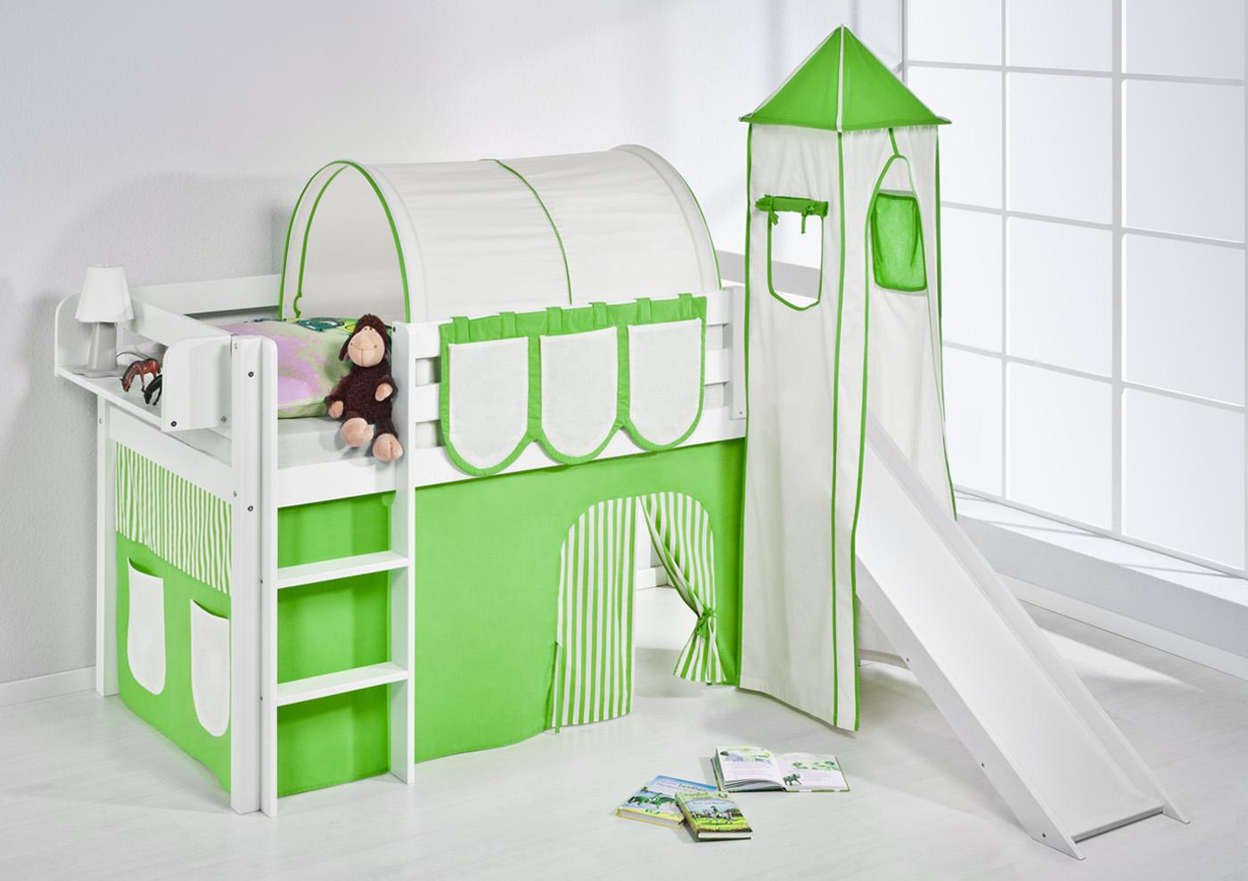 Cool Spielbett Hochbett Kinderbett Kinder Bett JELLE mit Turm und  EH39