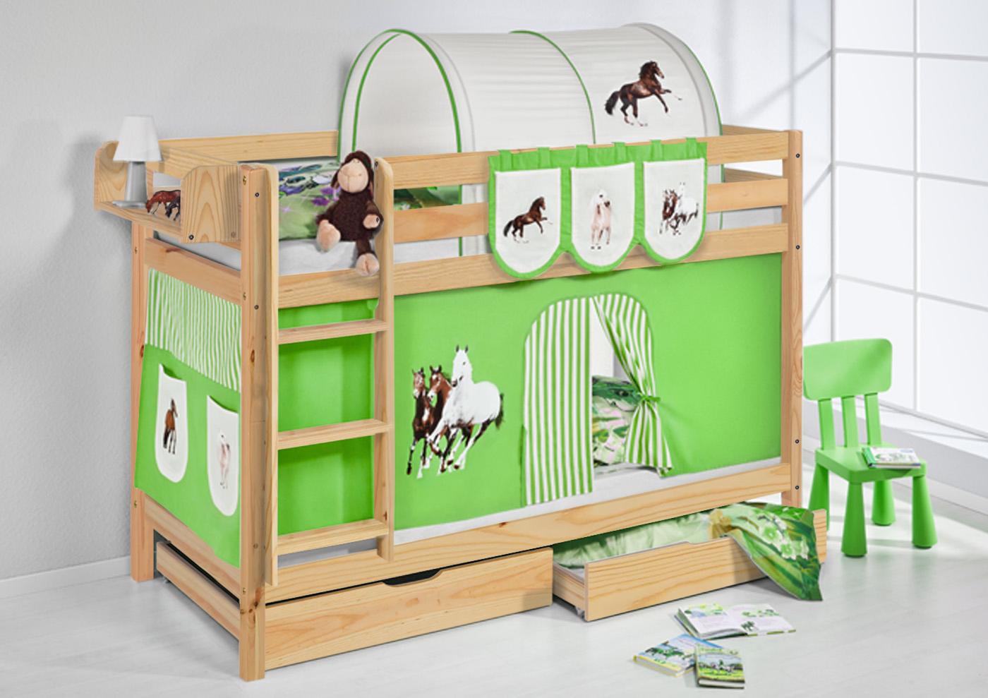 etagenbett hochbett kinder bett aus massiver kiefer jelle On etagenbett kinderbett