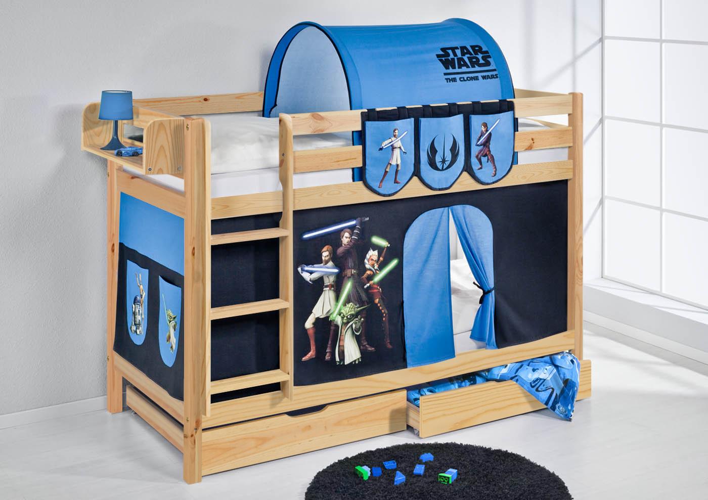 etagenbett hochbett kinder bett aus massiver kiefer jelle. Black Bedroom Furniture Sets. Home Design Ideas