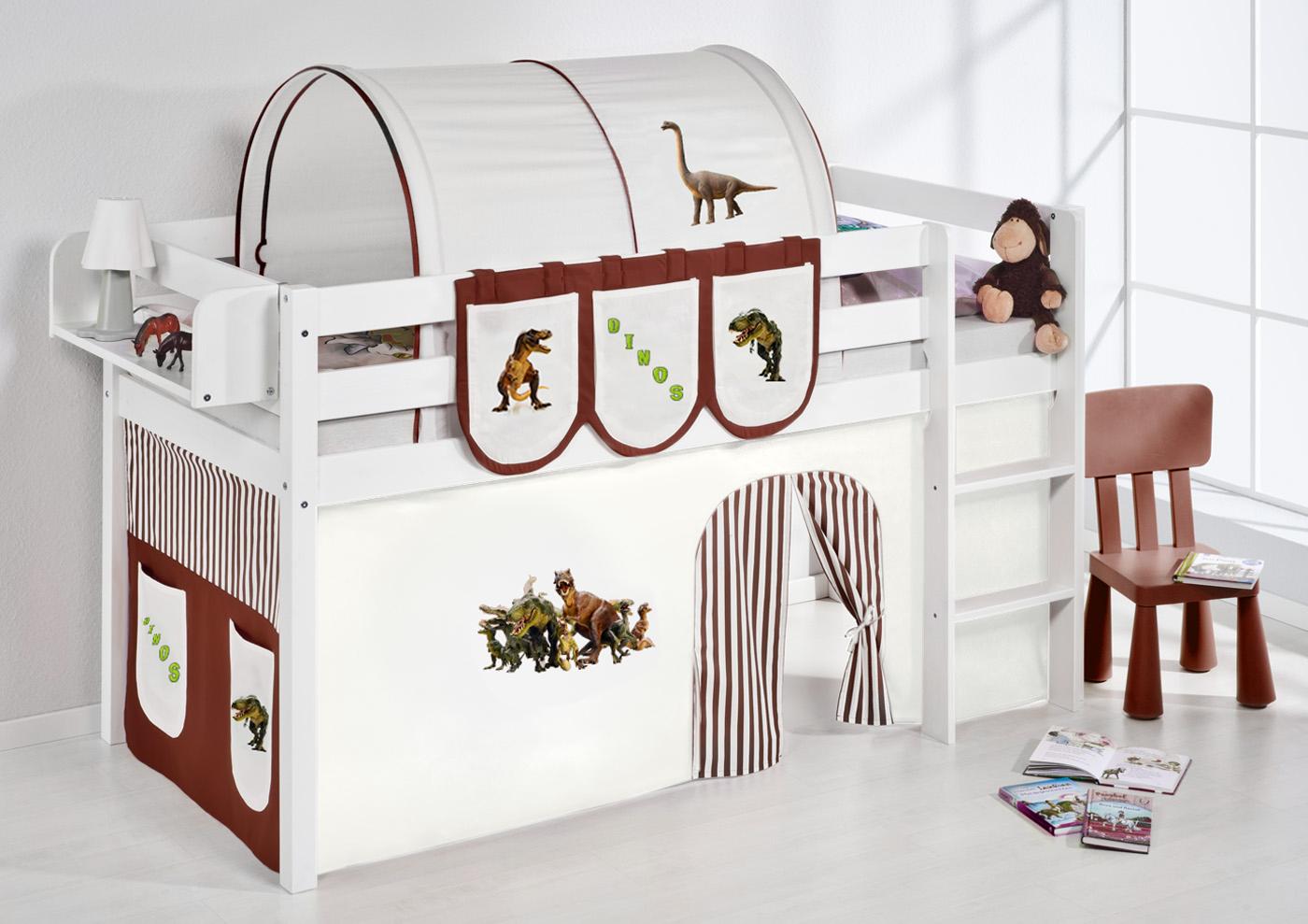 spielbett hochbett kinderbett kinder bett jelle 190x90 cm vorhang nach wahl ebay. Black Bedroom Furniture Sets. Home Design Ideas