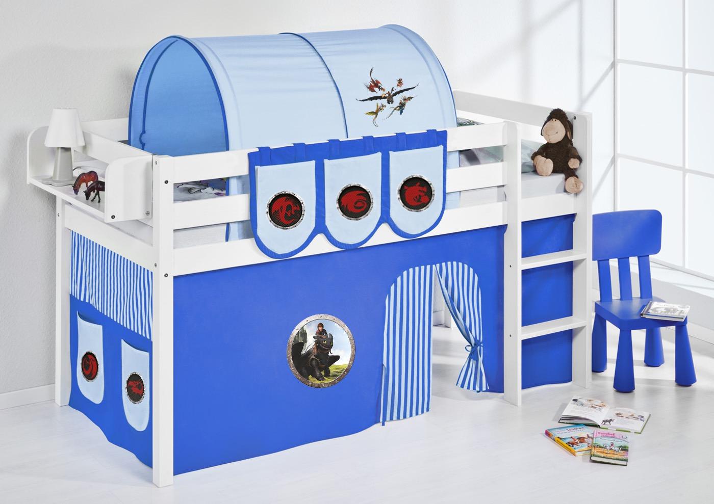Spielbett hochbett kinderbett kinder bett jelle 190x90 cm   ...