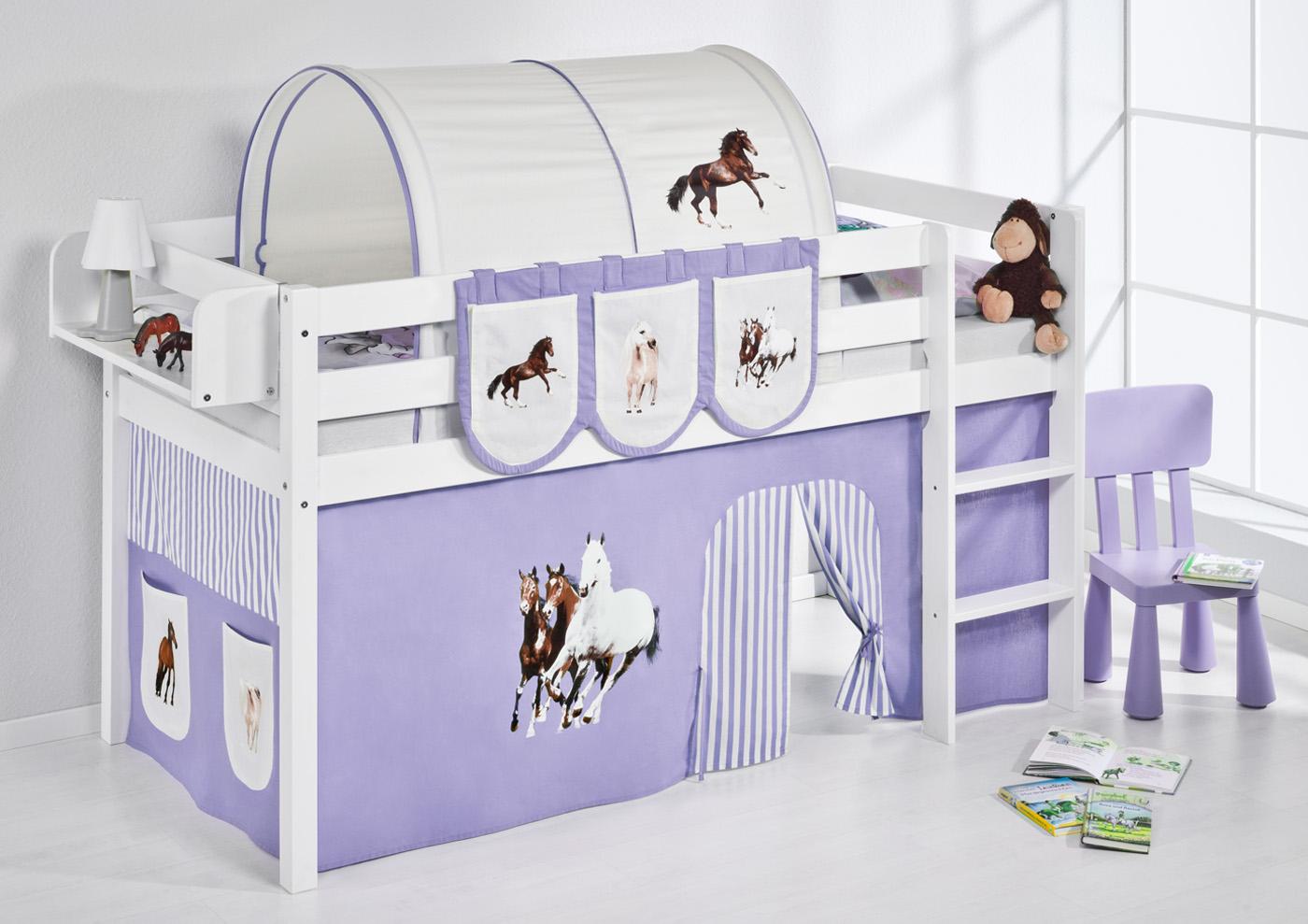 Vorhang Für Etagenbett : Spielbett hochbett kinderbett kinder bett jelle vorhang nach