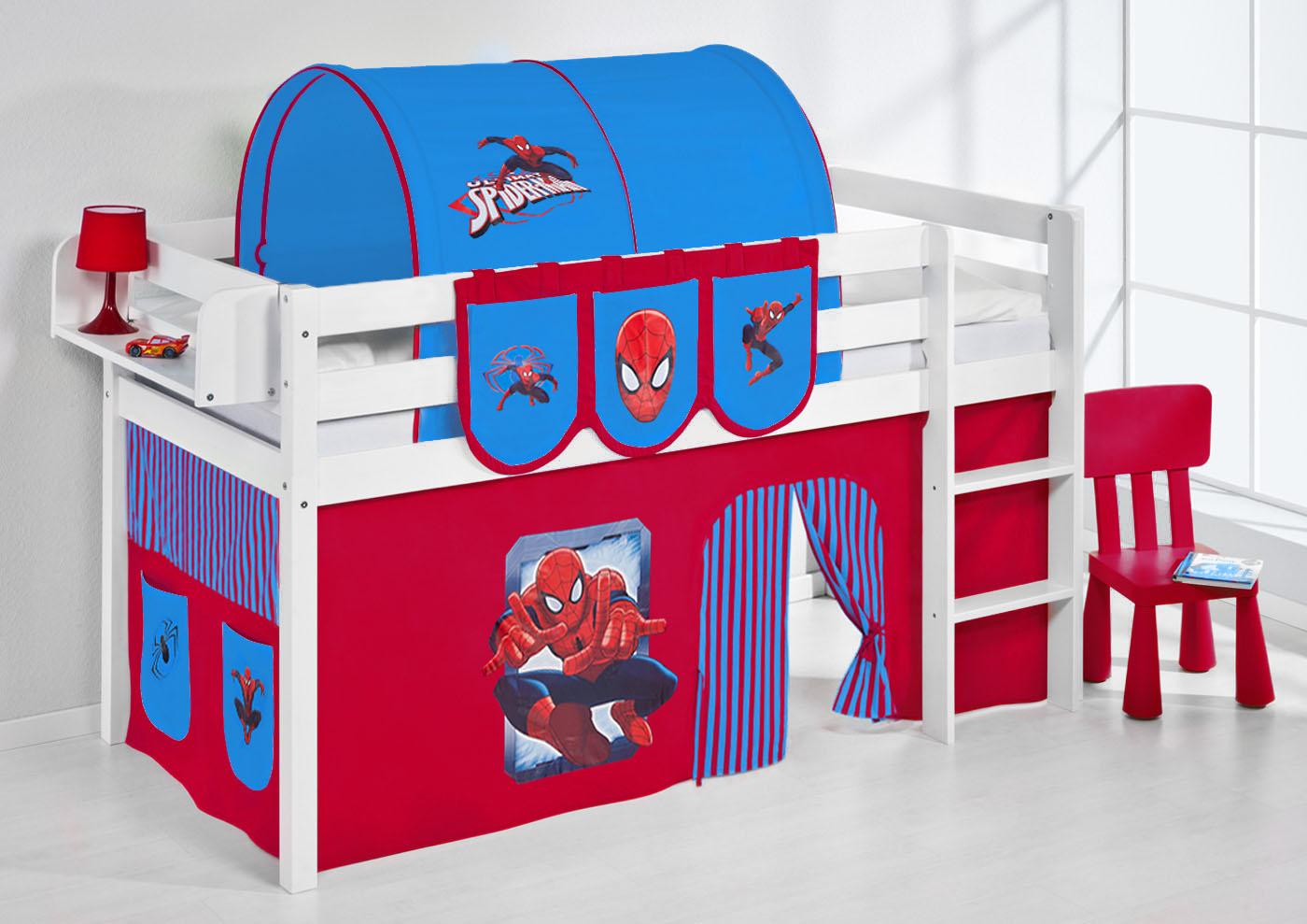 Hochbett Vorhang Set Mädchen : Spielbett hochbett kinderbett kinder bett jelle vorhang nach