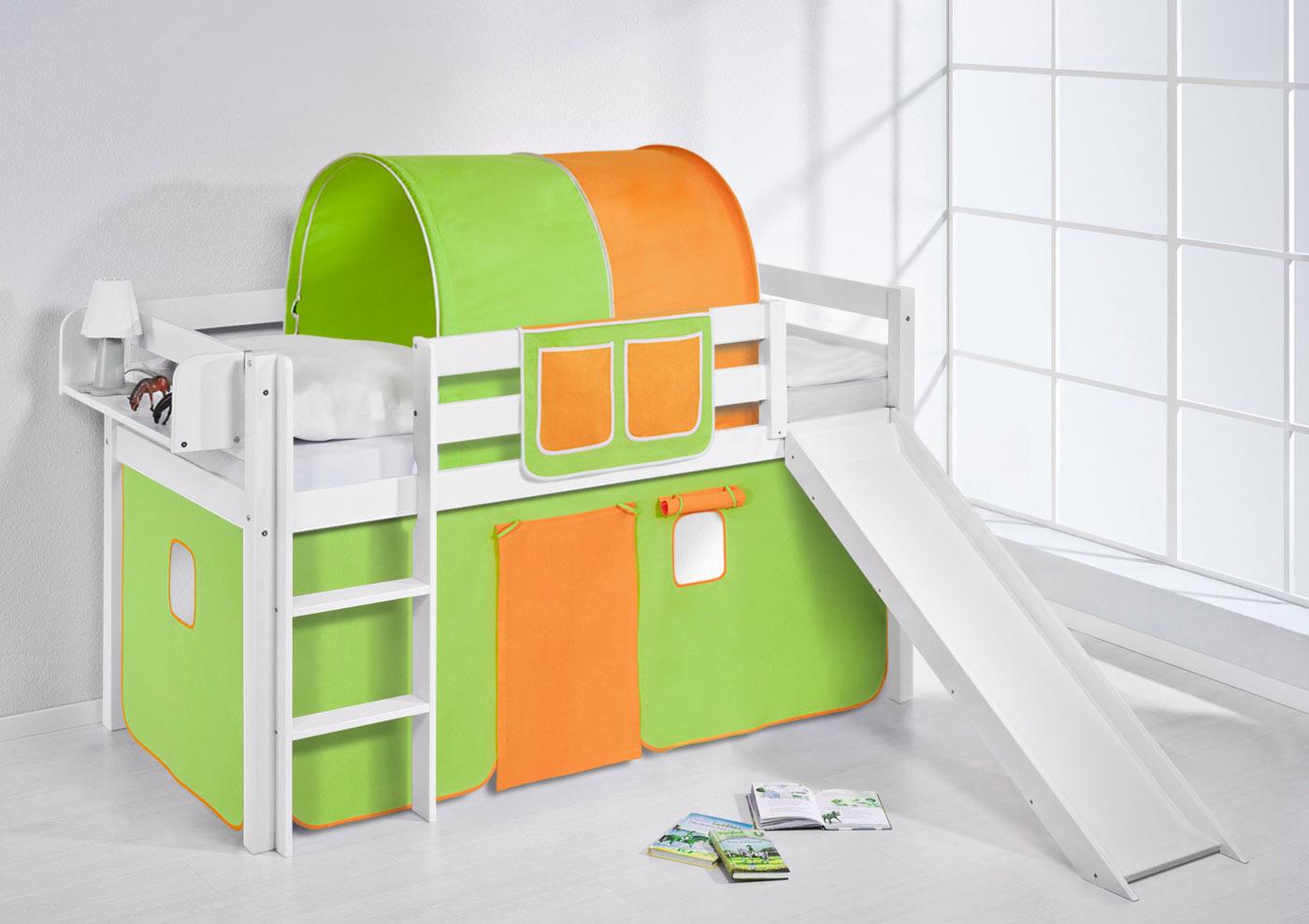 spielbett hochbett kinderbett kinder bett jelle mit. Black Bedroom Furniture Sets. Home Design Ideas