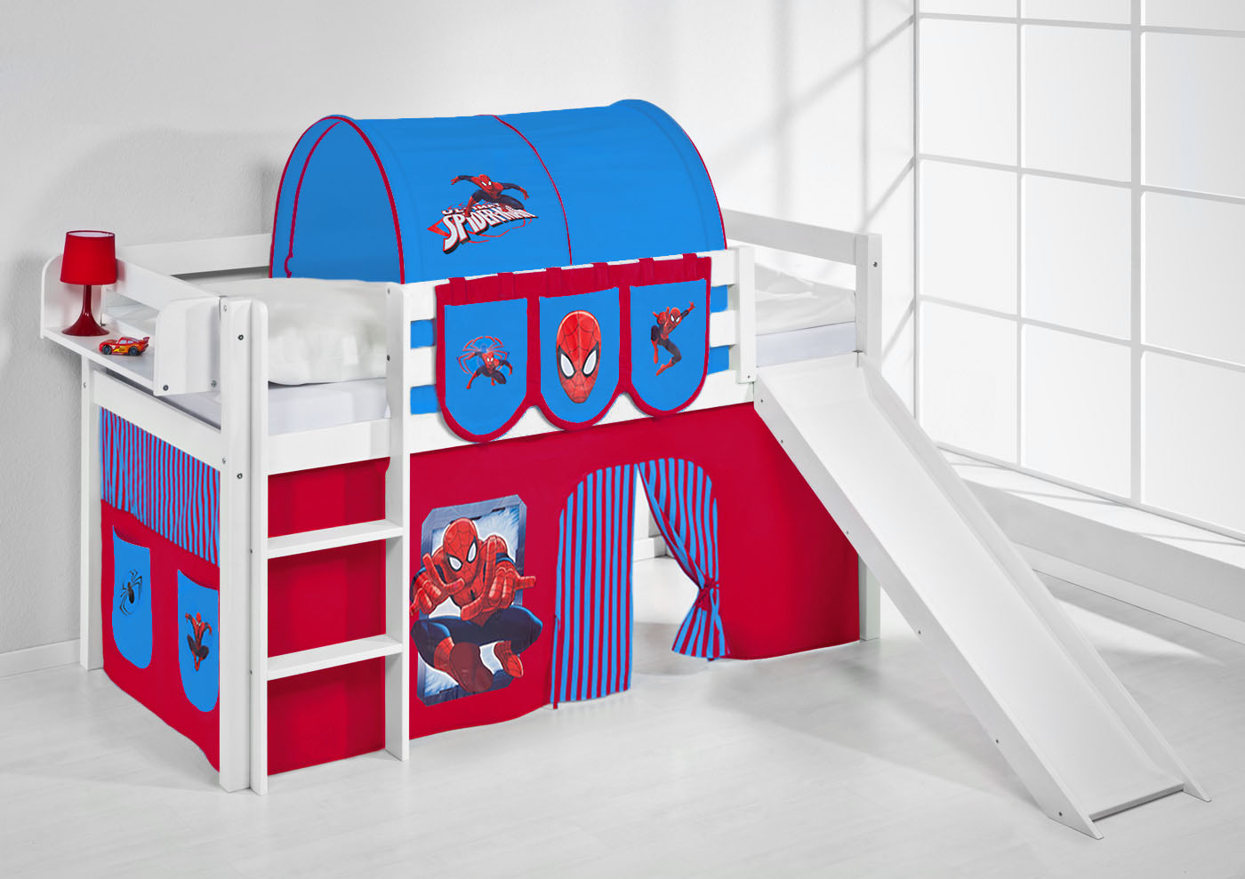 Spiderman Bunk Bed With Slide