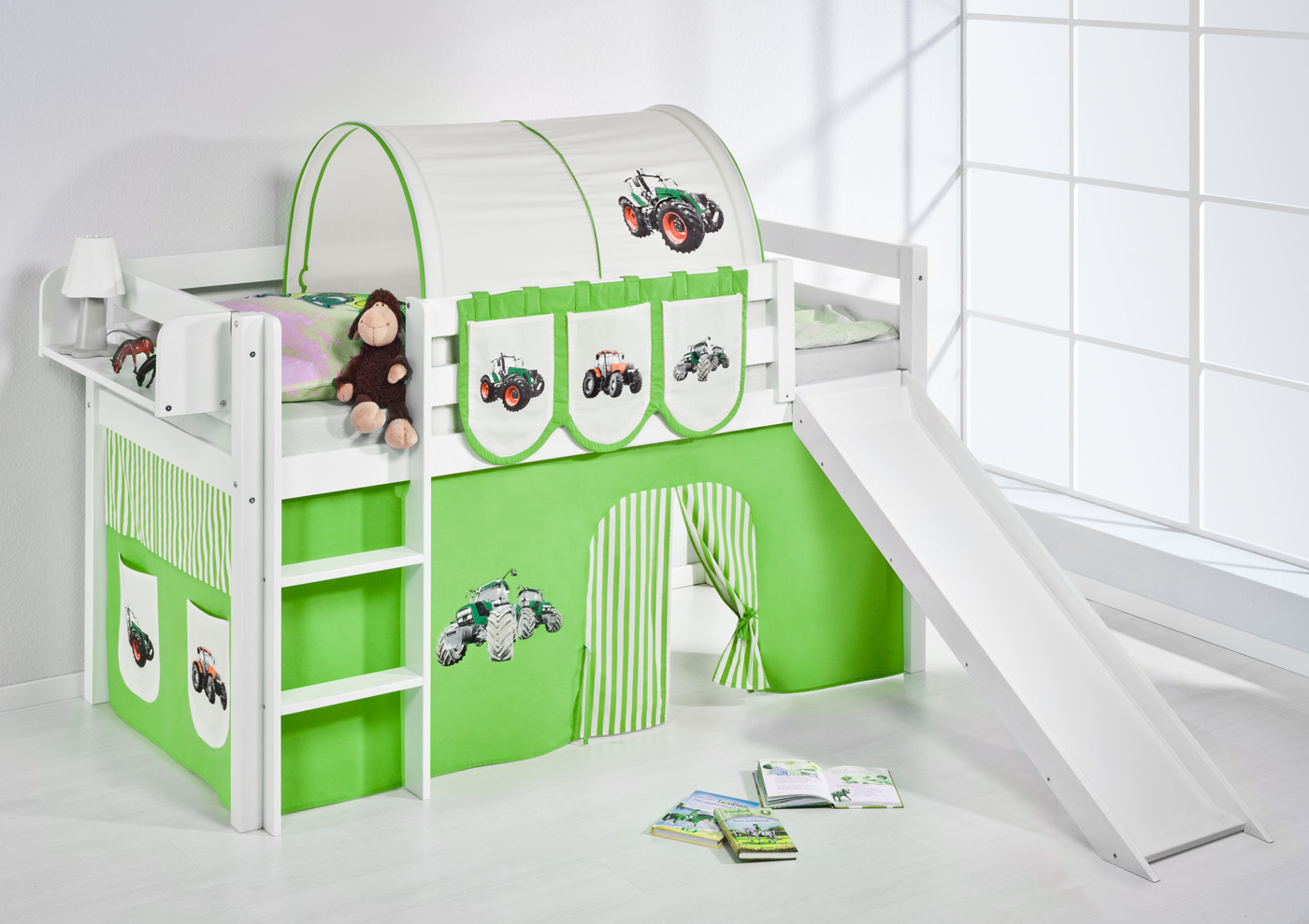 spielbett hochbett kinderbett kinder bett jelle mit. Black Bedroom Furniture Sets. Home Design Ideas