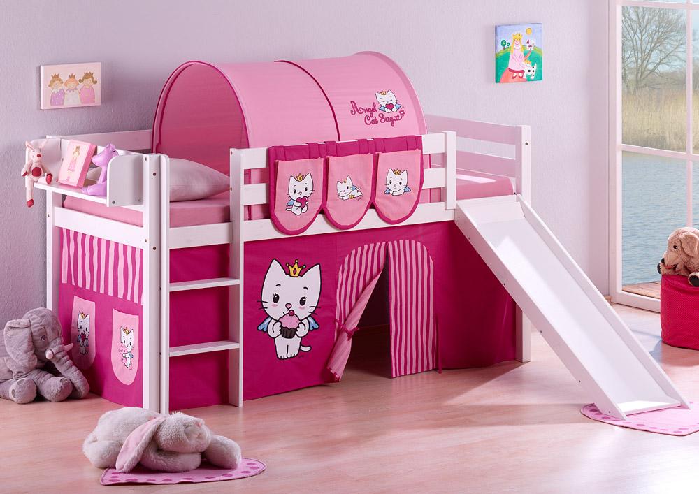 Spielbett Hochbett Kinderbett Kinder Bett Jelle Mit Rutsche